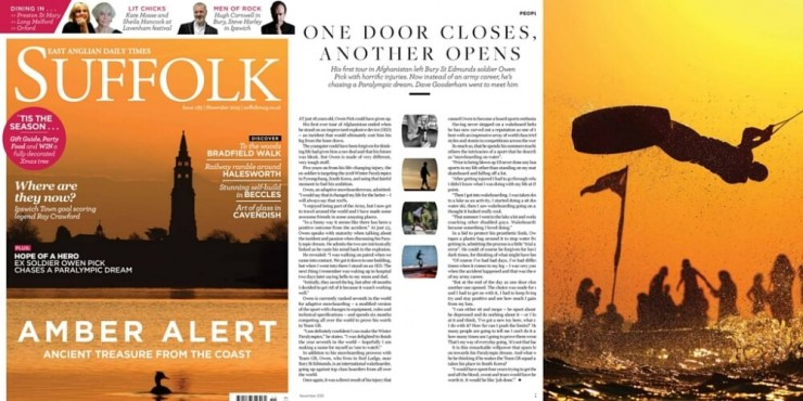 Feature writing in Suffolk Magazine