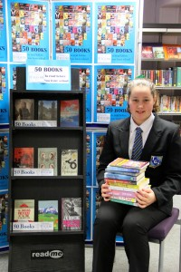 Student Evie Prager helps launch the 'TGS 50'