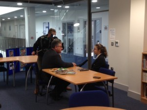 Rosie Young interviewed by Kevin Birch from Look East