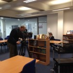 The BBC cameras highlight Rosie's love of reading